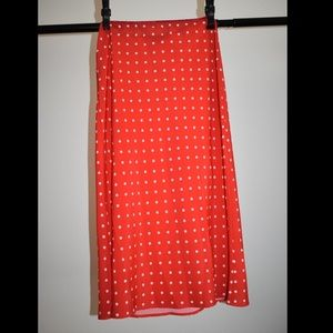 ROCKABILLY RED POLKA DOT LONG SKIRT